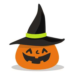 jack o lantern with witch's hat