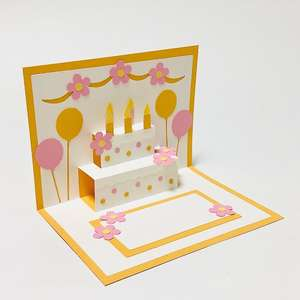 birthday cake popup