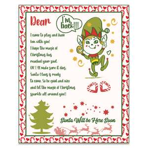 i am back christmas elf letter to kids