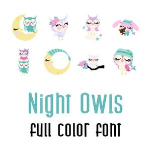 night owls full color font