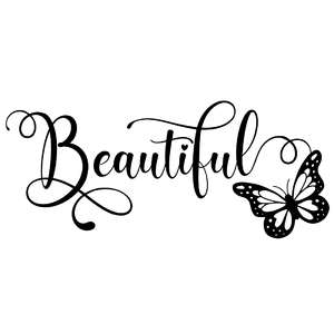 beautiful butterfly word