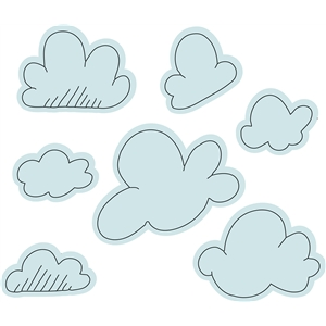 clouds sketch set