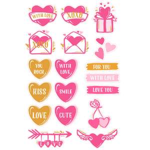 st. valentine's day stickers