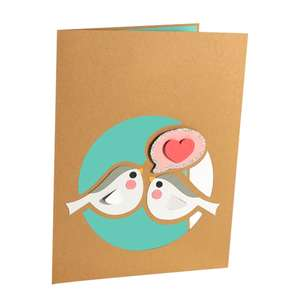 birds heart card