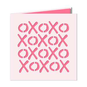 xoxo cut out card