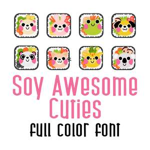 soy awesome - cuties full color font