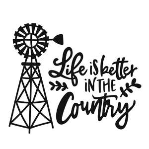 life is better in the country phrase