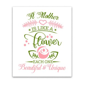 mother's day print n cut folding card