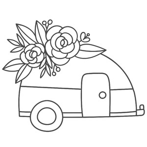 camper flower bouquet