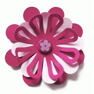 3d cutout layered flower