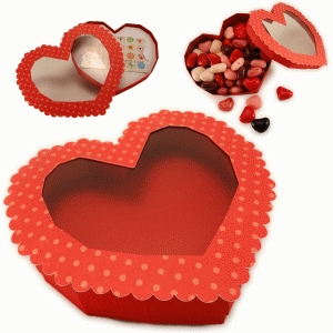 3d heart candy or gift card box