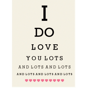 valentine love eye chart