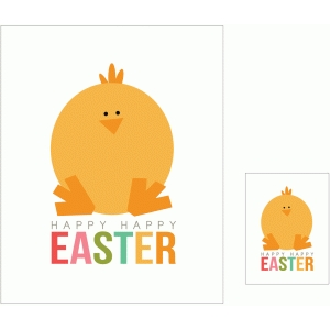 happy happy easter print and cut quote card