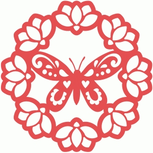 magnolia butterfly doily