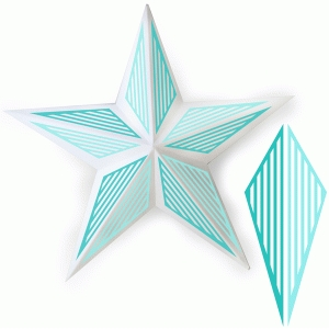 stripe metal star decor