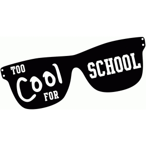 'too cool for school' glasses