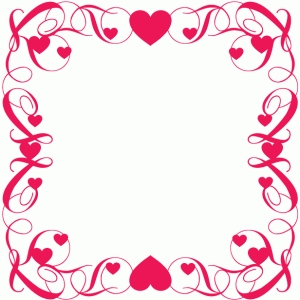 fancy heart square frame