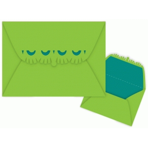 fringe edge flap envelope with liner
