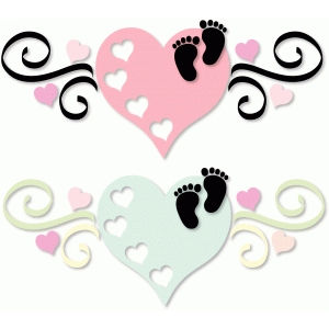 baby footprints on heart