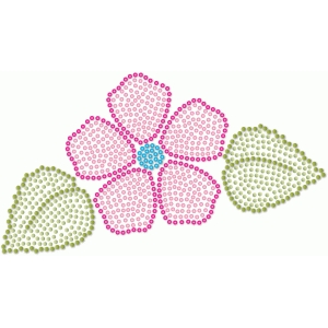 rhinestone filled flower