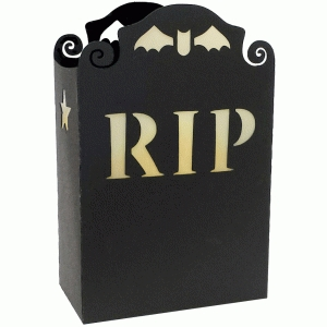 halloween gravestone votive holder