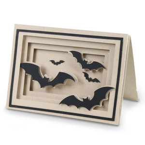 bat shadow box cards