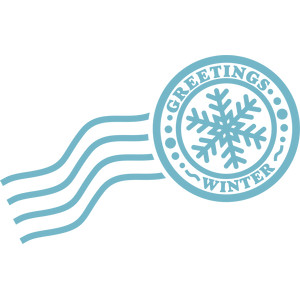 greetings winter stamp