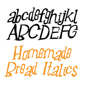 zp homemade bread italics