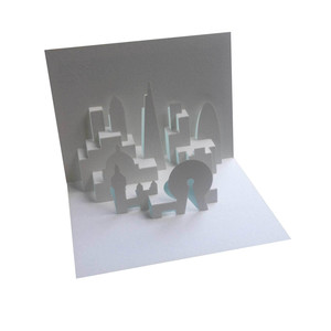 london skyline pop up card