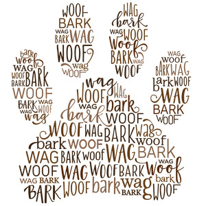 word collage - dog