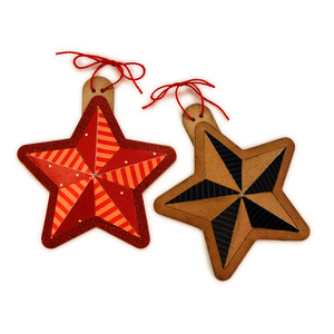star ornament facets
