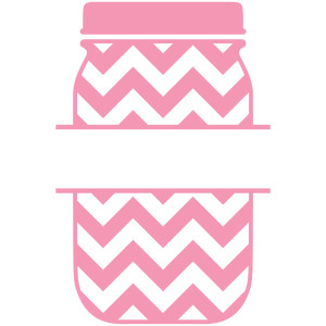 mason jar chevron split label