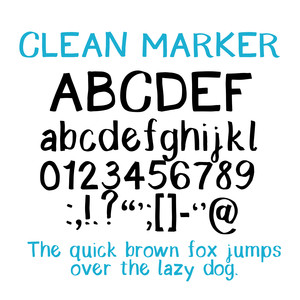 cg clean marker font