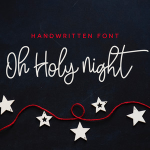 oh holy night font