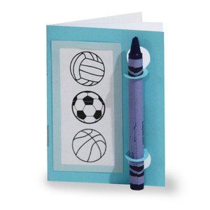 color and sketch book - play ball