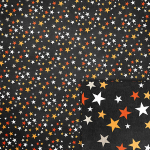 halloween stars background paper