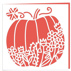 floral pumpkin card