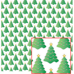 green christmas tree pattern