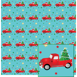 red truck pattern