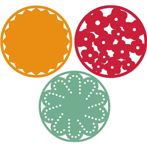 3 decorative circles