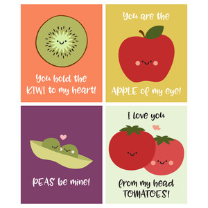 apple of my eye valentine cards