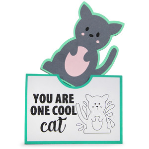pocket coloring card - you are one cool cat