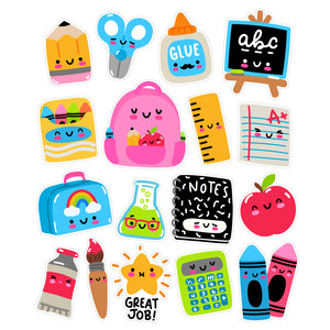kawaii school stickers