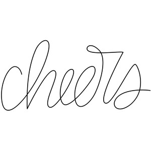 sketch handwritten cheers word