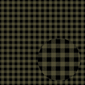 olive green & black buffalo plaid seamless pattern