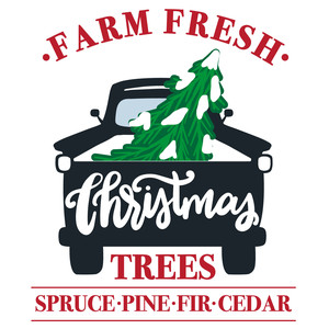 farm fresh christmas trees truck