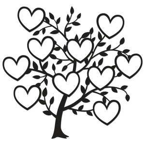 family tree 10 hearts