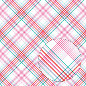pink purple & blue plaid seamless pattern