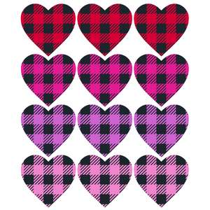 buffalo check heart stickers