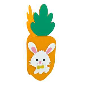 bunny and carrot card
